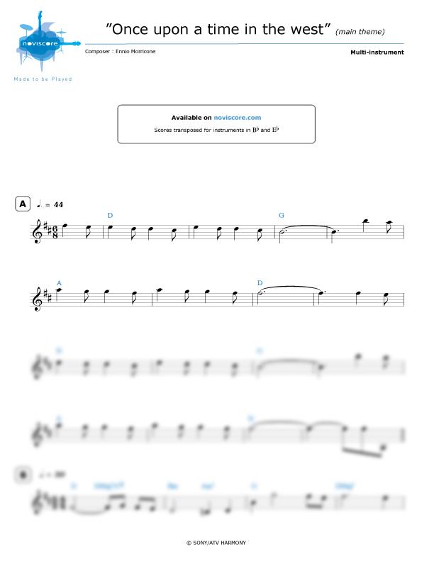 Andere noten Spiel mir das Lied vom Tod (Ennio Morricone) einfache ...