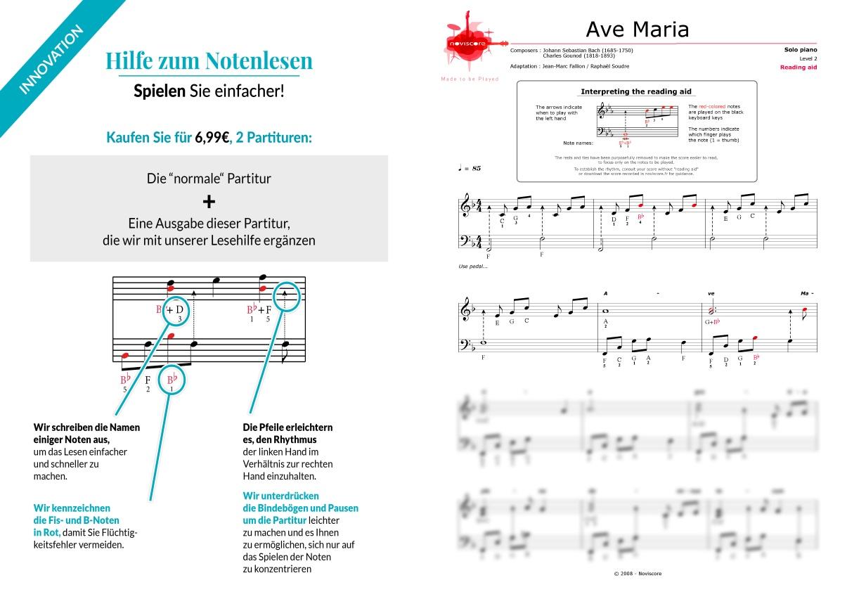 Klaviernoten Ave Maria (Bach/Gounod) (Charles Gounod