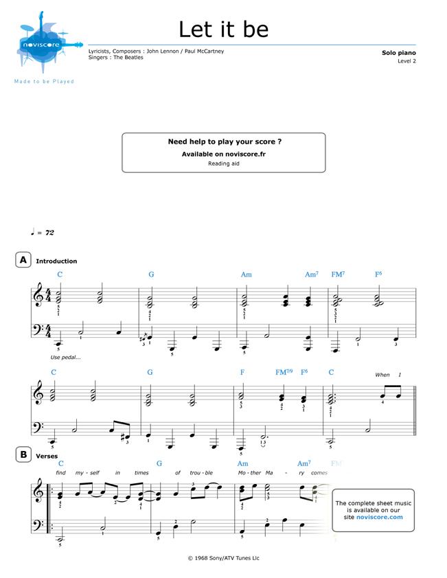 Noten klavier kostenlos